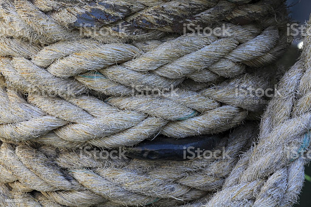Rope twisted royalty-free stock photo