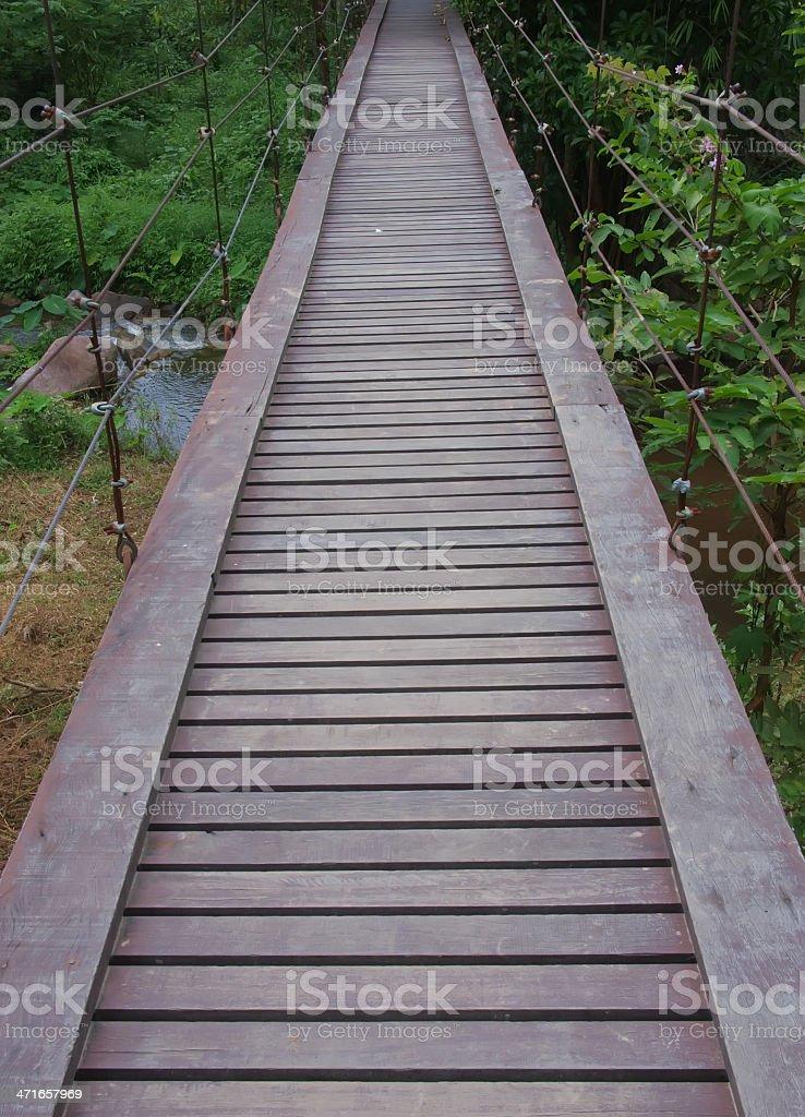 Rope walkway stock photo