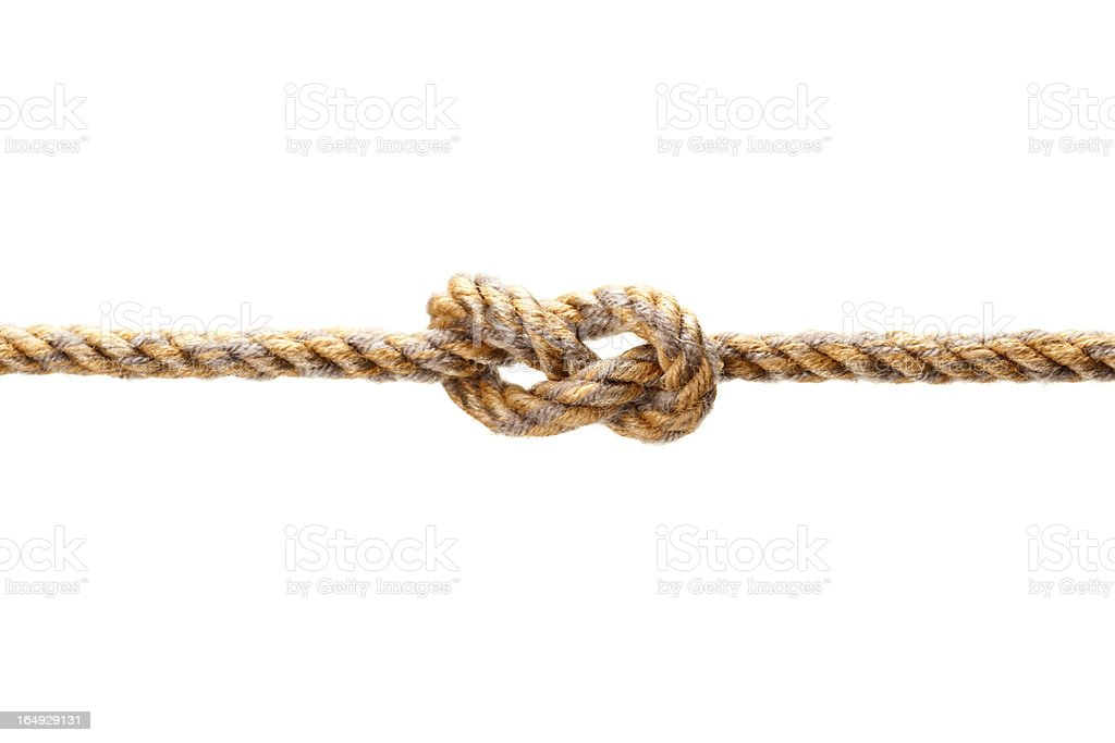 rope with a knot stock photo