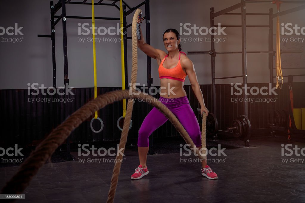 Rope Workout stock photo