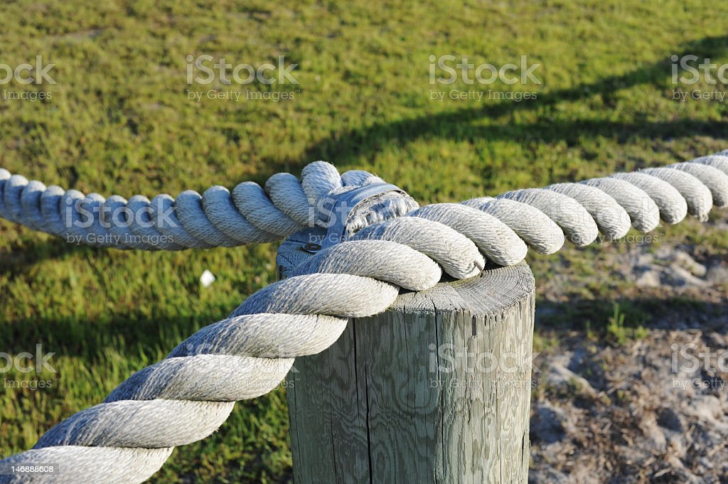 Roped off stock photo
