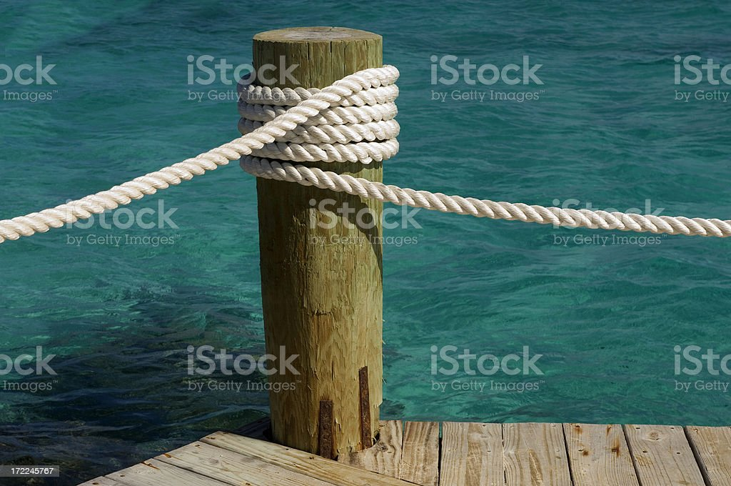 Roped stock photo