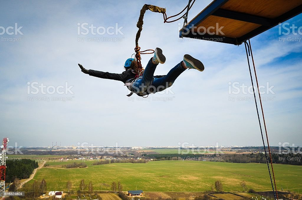 Ropejumping stock photo