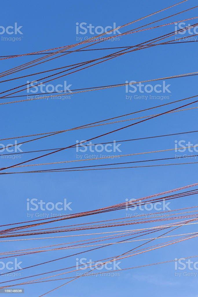ropes across the sky royalty-free stock photo