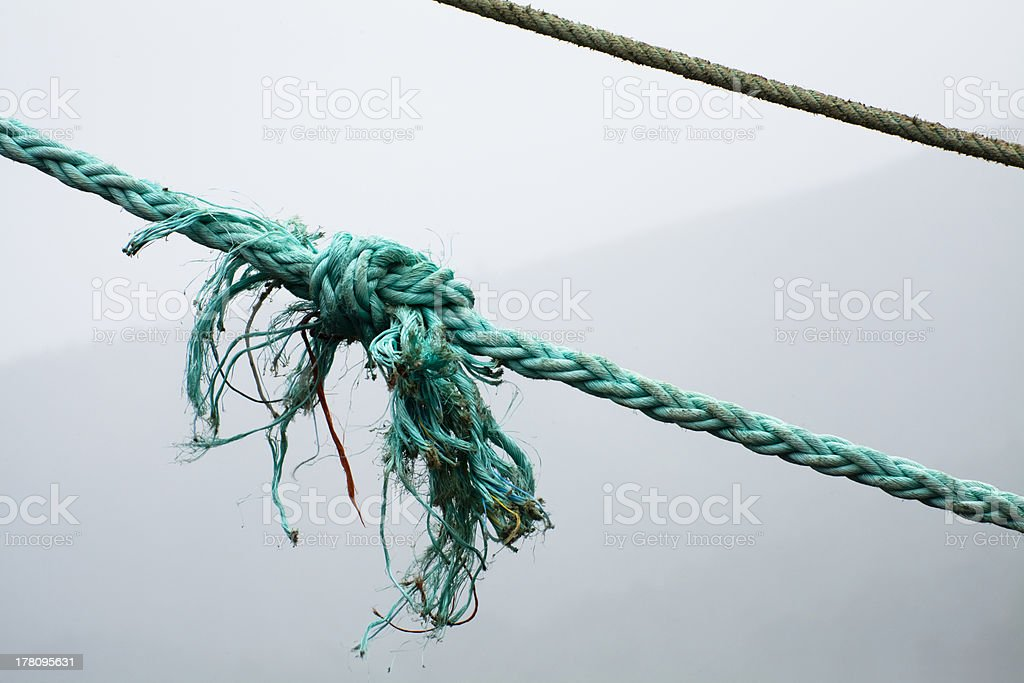Ropes and knot royalty-free stock photo