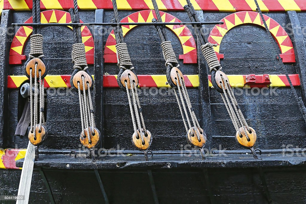 Ropes and Pulleys stock photo
