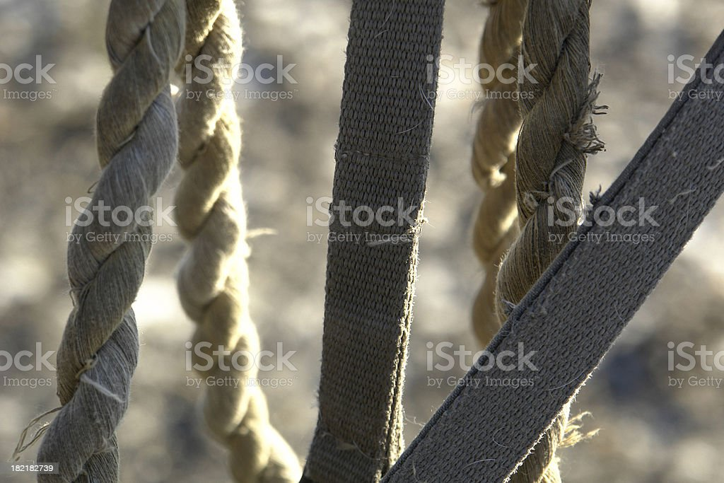 Ropes Close Up stock photo