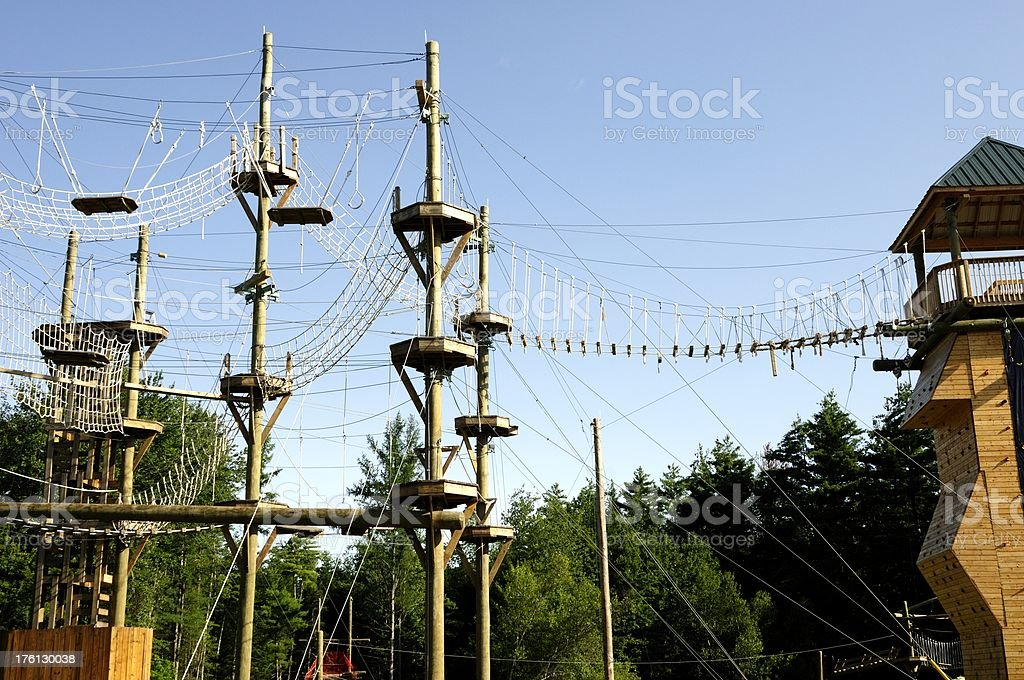 ropes course royalty-free stock photo
