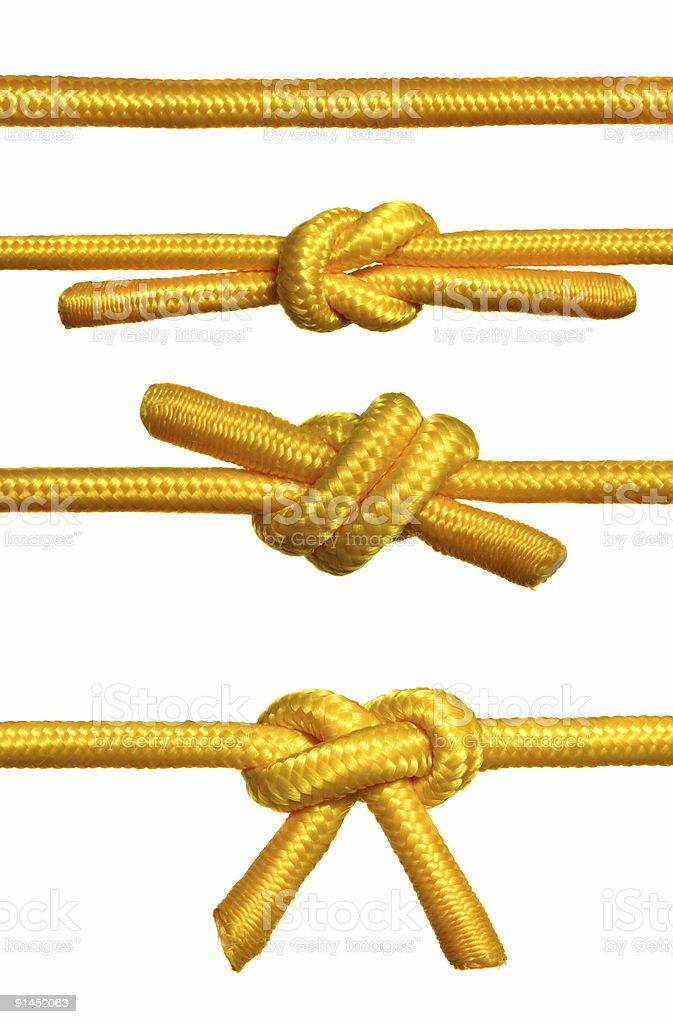 Ropes Knots royalty-free stock photo