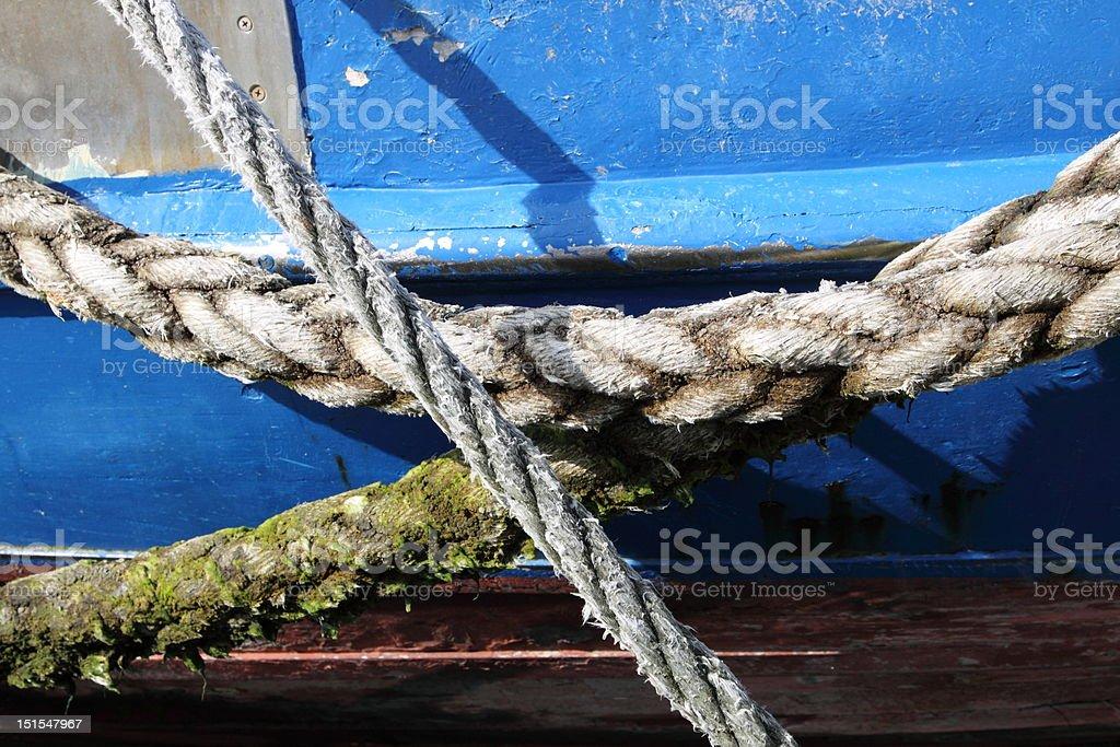 ropes of a vessel royalty-free stock photo