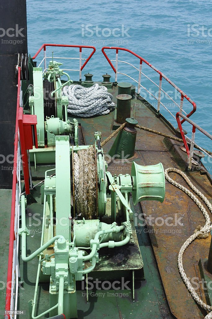 Ropes on a ship royalty-free stock photo