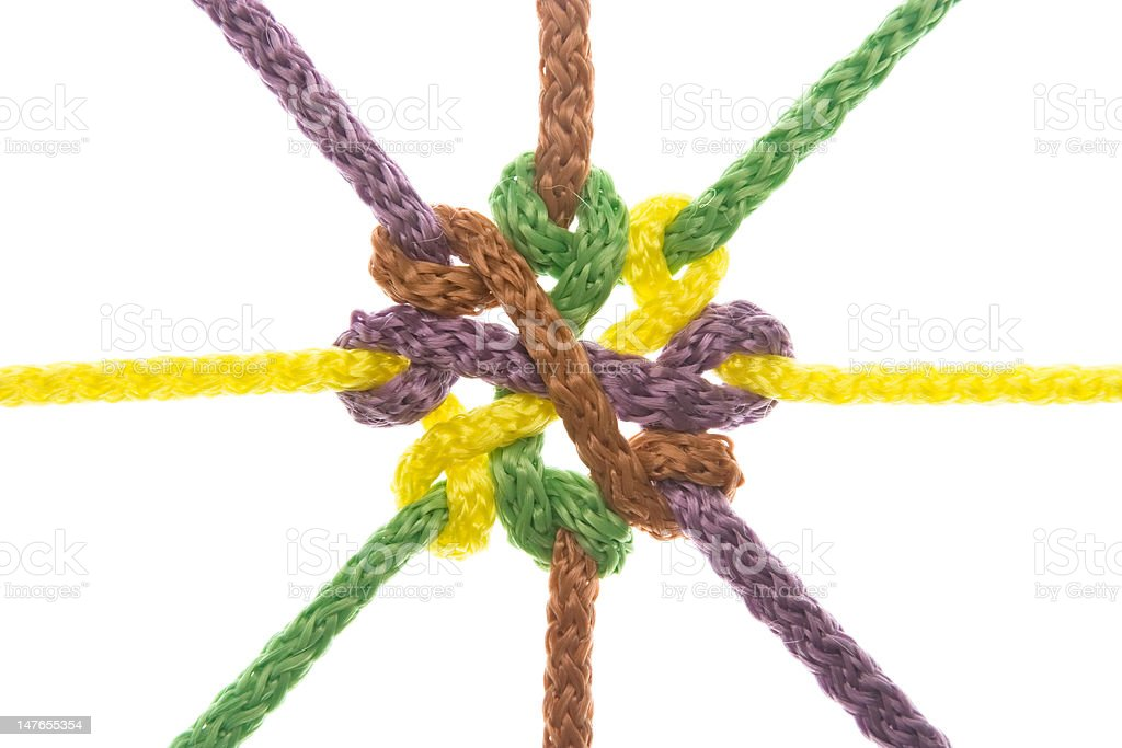 Ropes tied in knot royalty-free stock photo