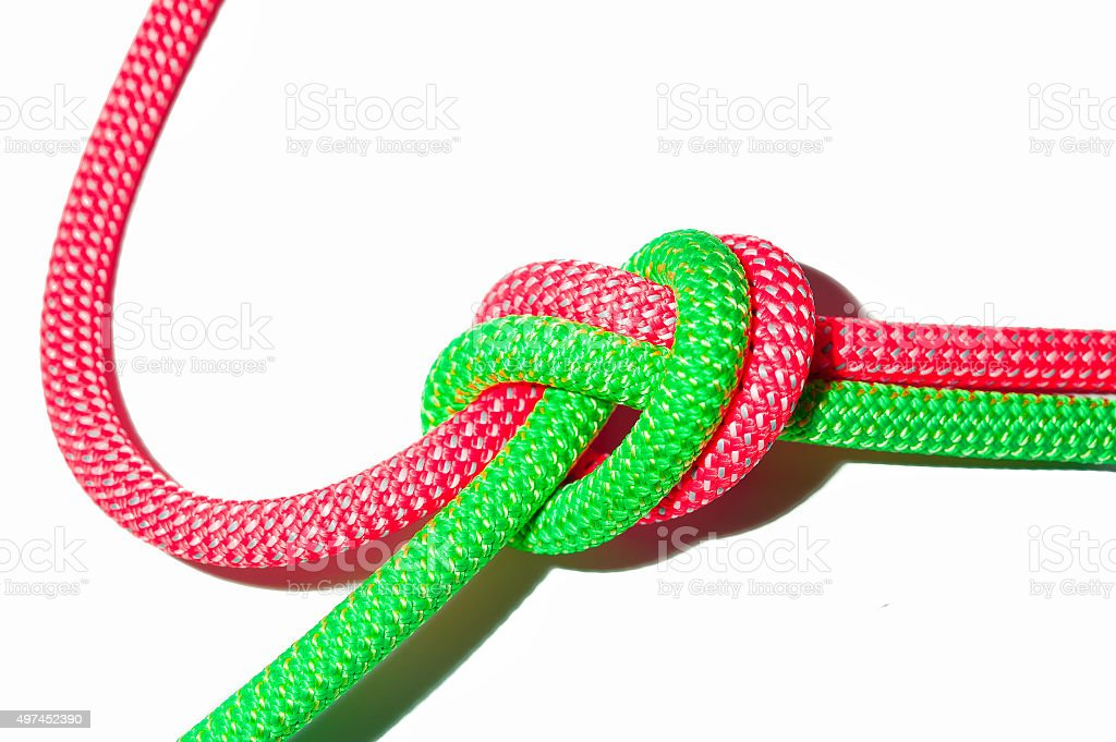Ropes tied together stock photo