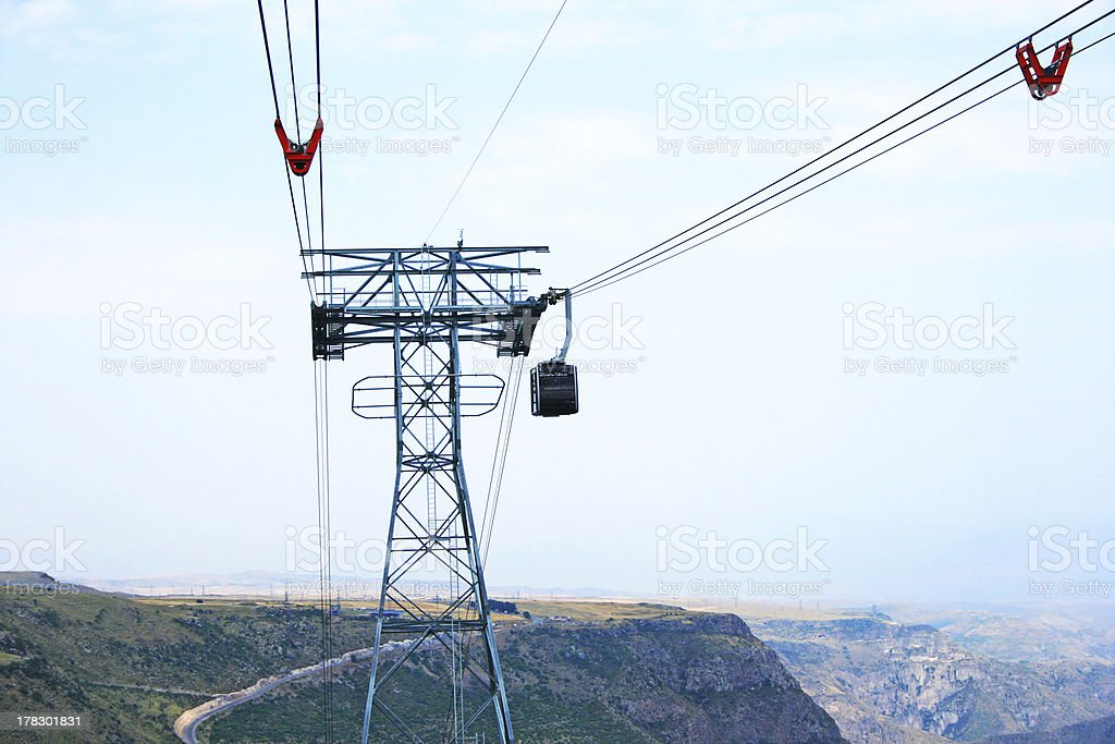 Ropeway in Armenia royalty-free stock photo