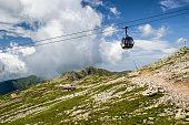 Ropeway in Low Tatras mountains, Slovakia