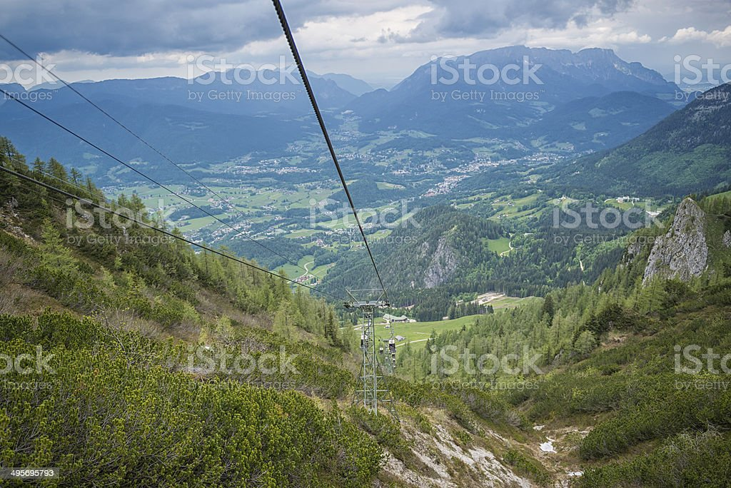 ropeway to the jenner royalty-free stock photo