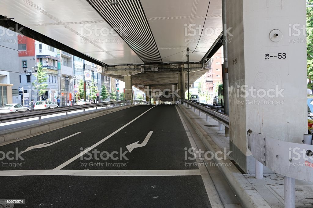 Roppongi Street stock photo