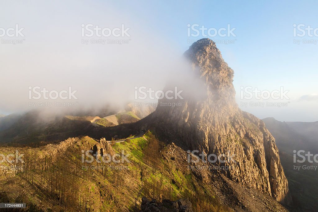Roque de Agando mountain royalty-free stock photo