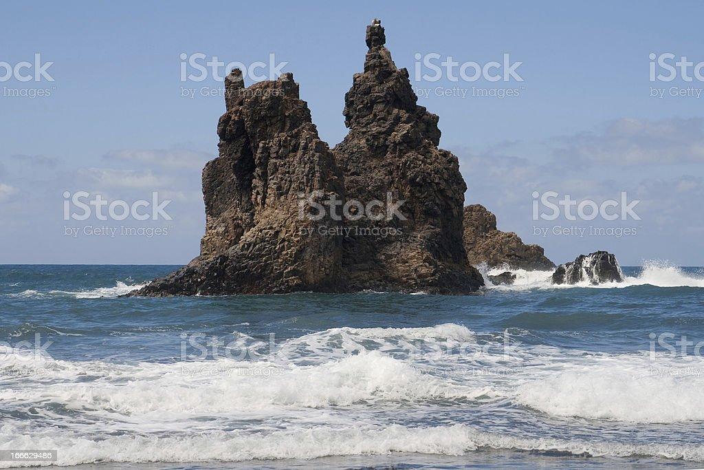 Roque de Benijo royalty-free stock photo