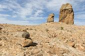 roque nublo rock on island of Gran Canaria