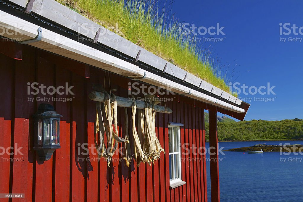 Rorbu hut royalty-free stock photo