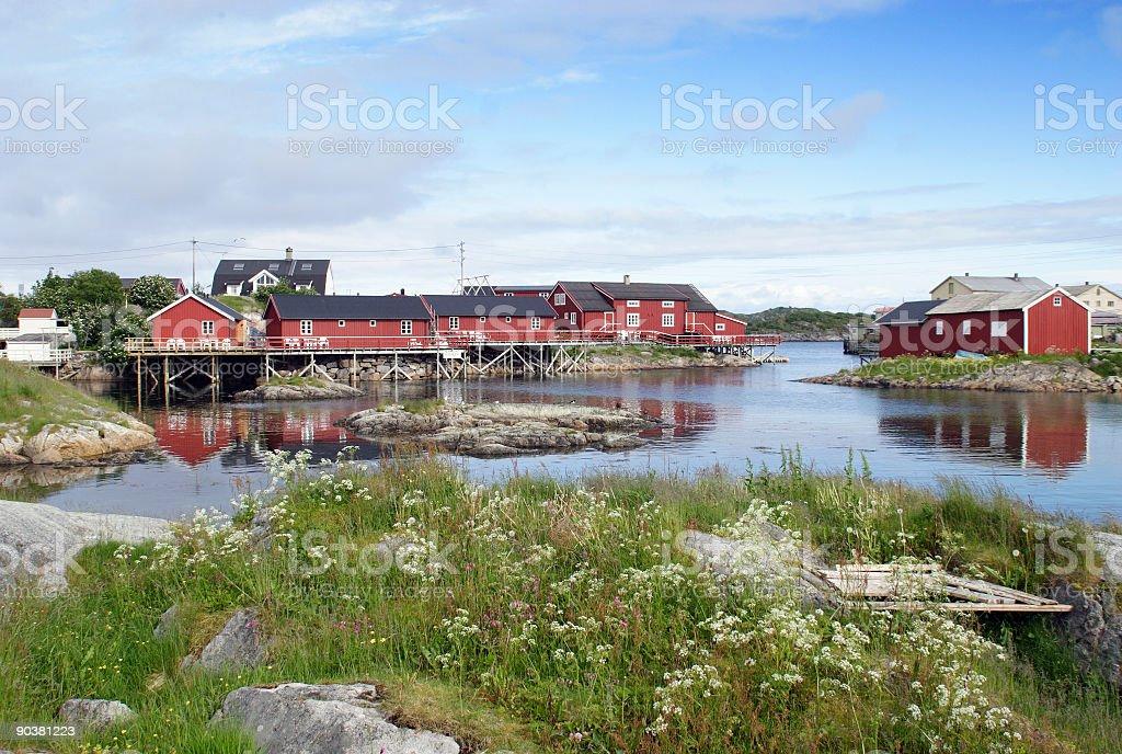 Rorbuer, fischermen's houses. royalty-free stock photo