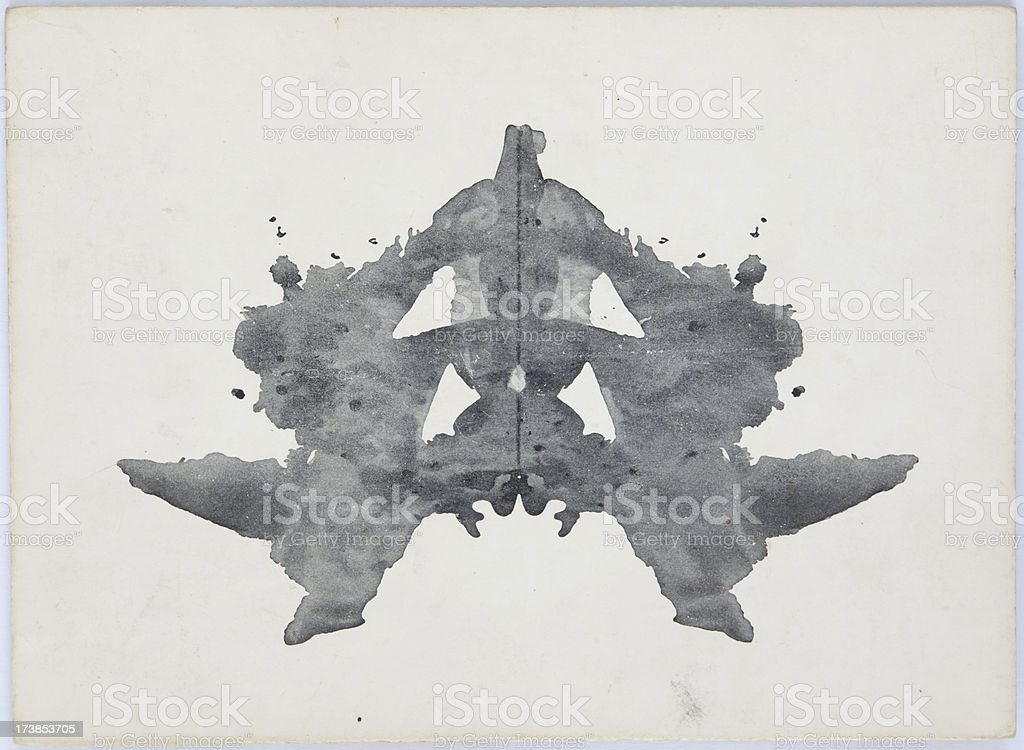 Rorschach Ink Blot royalty-free stock photo