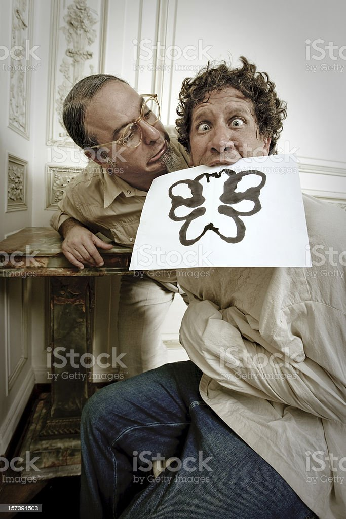 Rorschach Test Experiment royalty-free stock photo