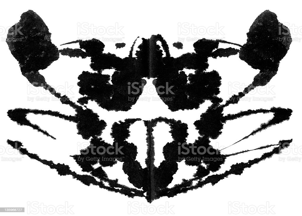 Rorschach Test stock photo