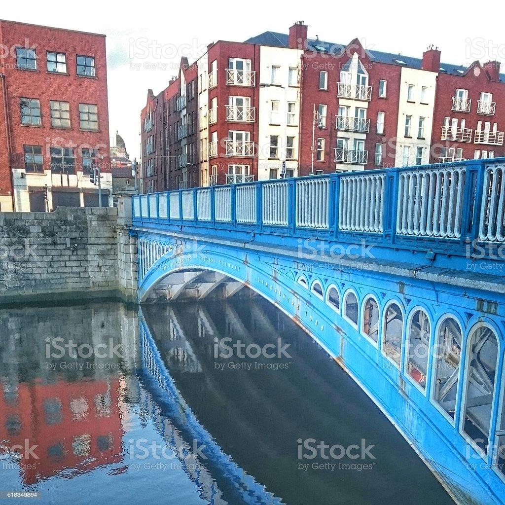 Rory O'More Bridge Dublin Ireland stock photo