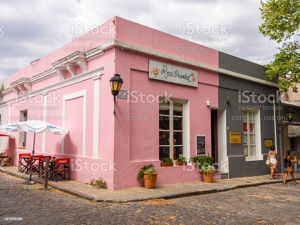 Rosa Oriental in Colonia del Sacramento, Uruguay stock photo
