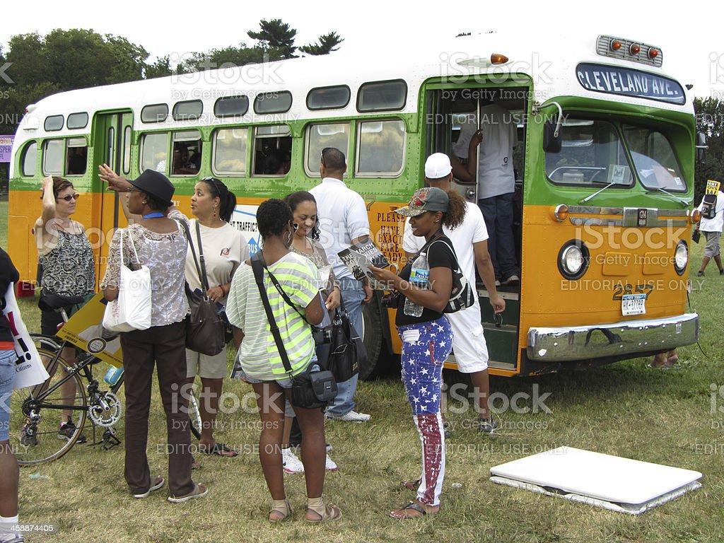 Rosa Parks Bus stock photo