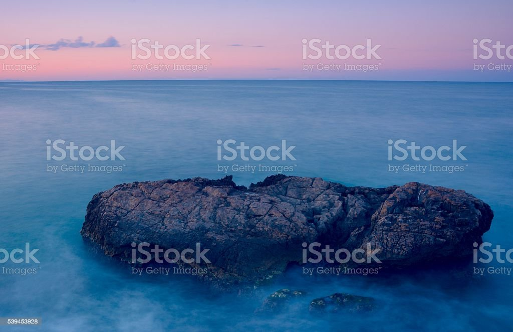 Rosa y azul stock photo