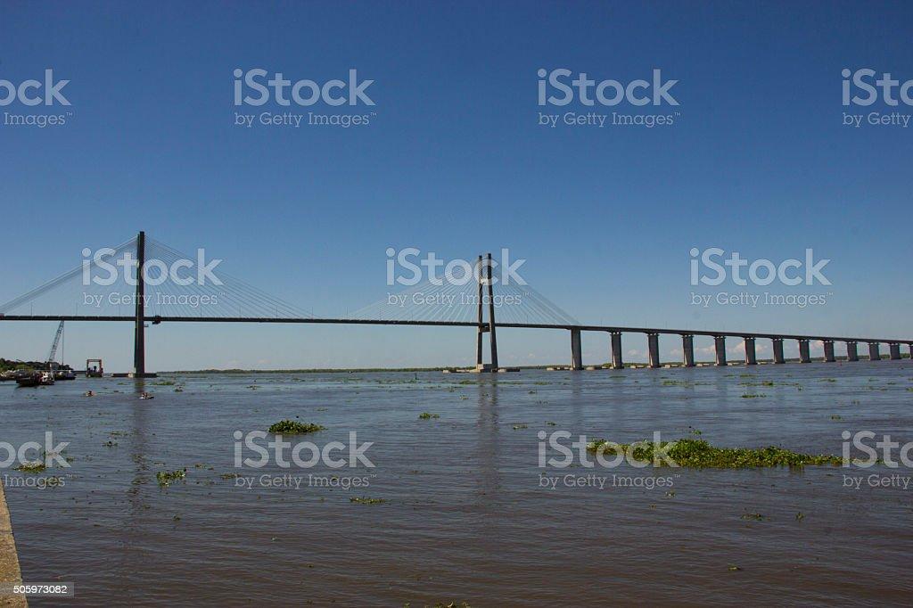 Rosario Victoria Bridge stock photo