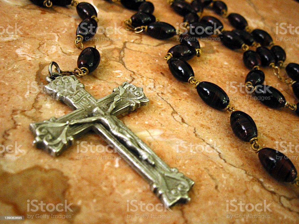 rosary 02 stock photo