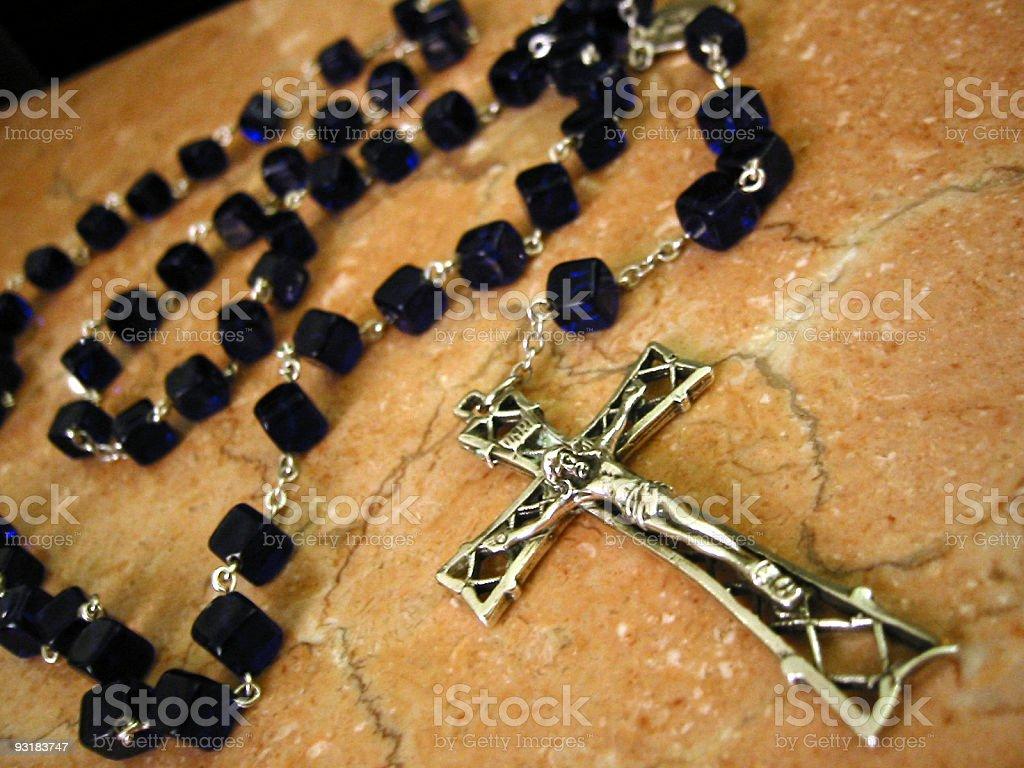rosary 03 stock photo