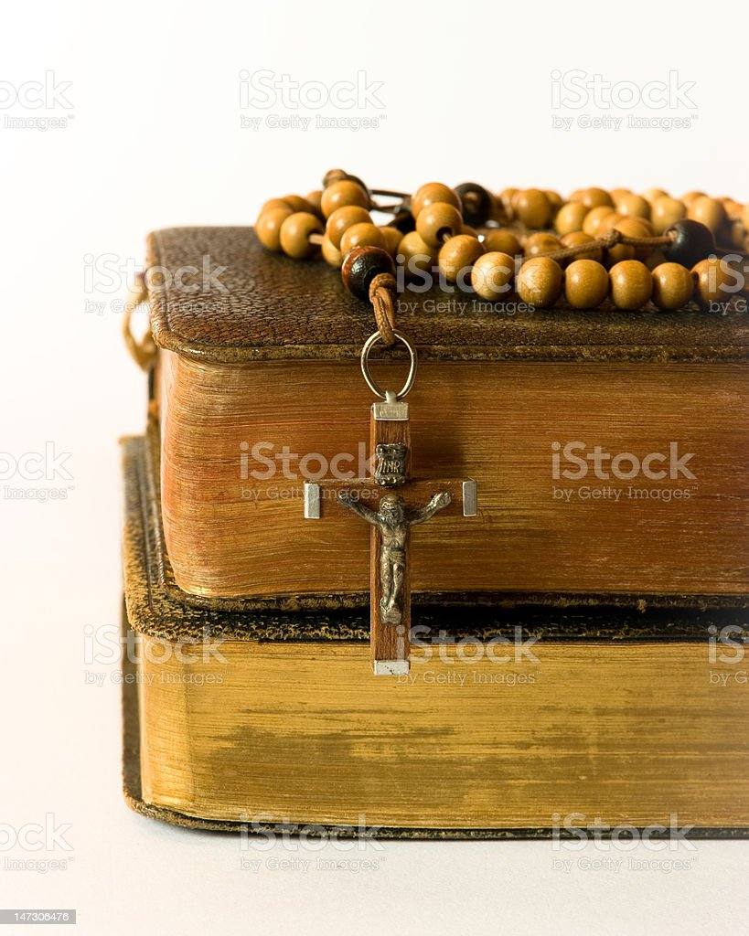 Rosary beads and breviary royalty-free stock photo