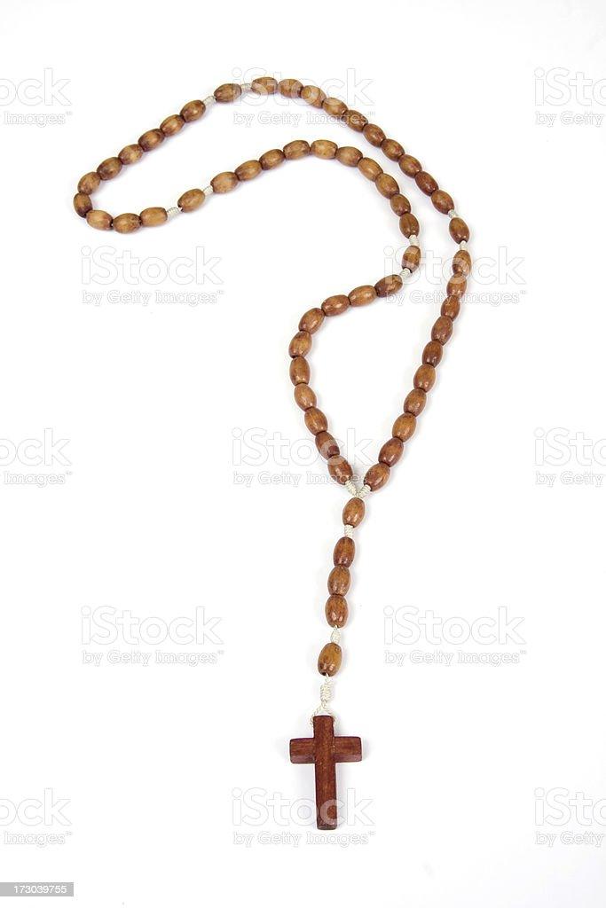 rosary Beads Wood stock photo