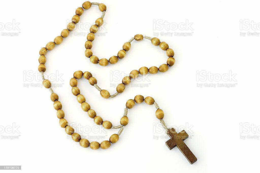 Rosary, full - isolated royalty-free stock photo