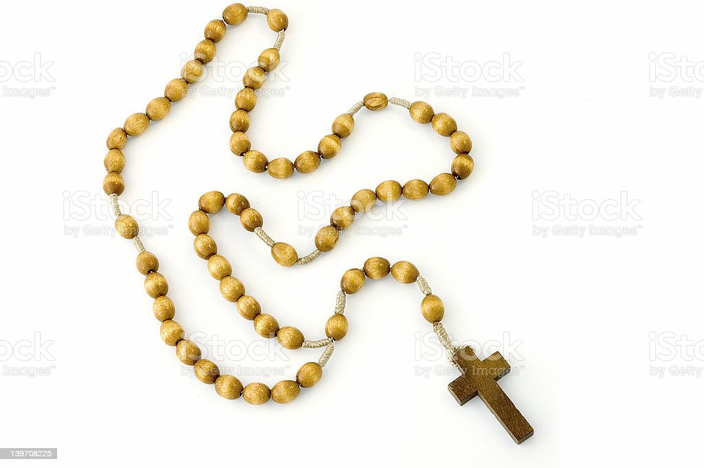 Rosary, full - isolated stock photo