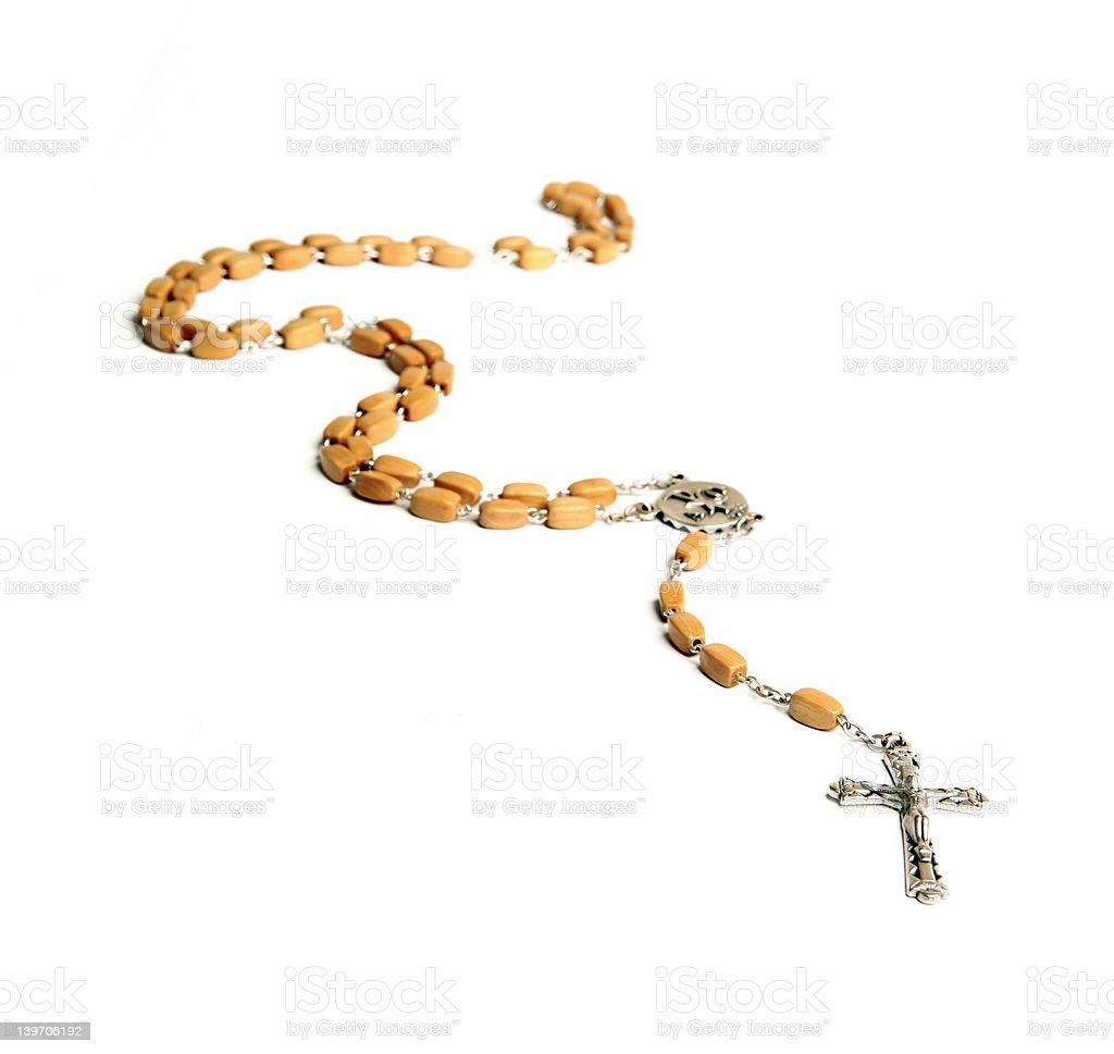 Rosary - Isolated royalty-free stock photo