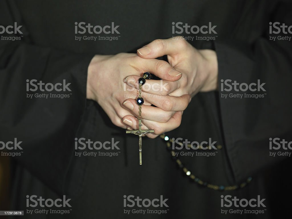 Rosary stock photo