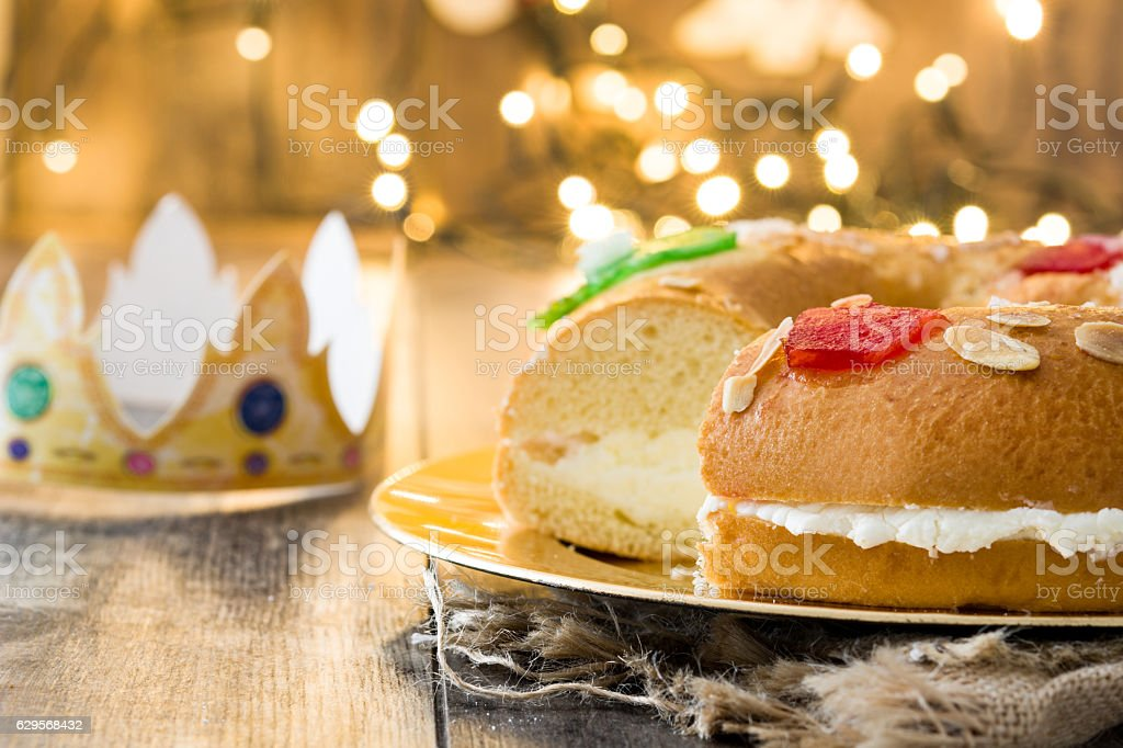 Roscon de Reyes. stock photo