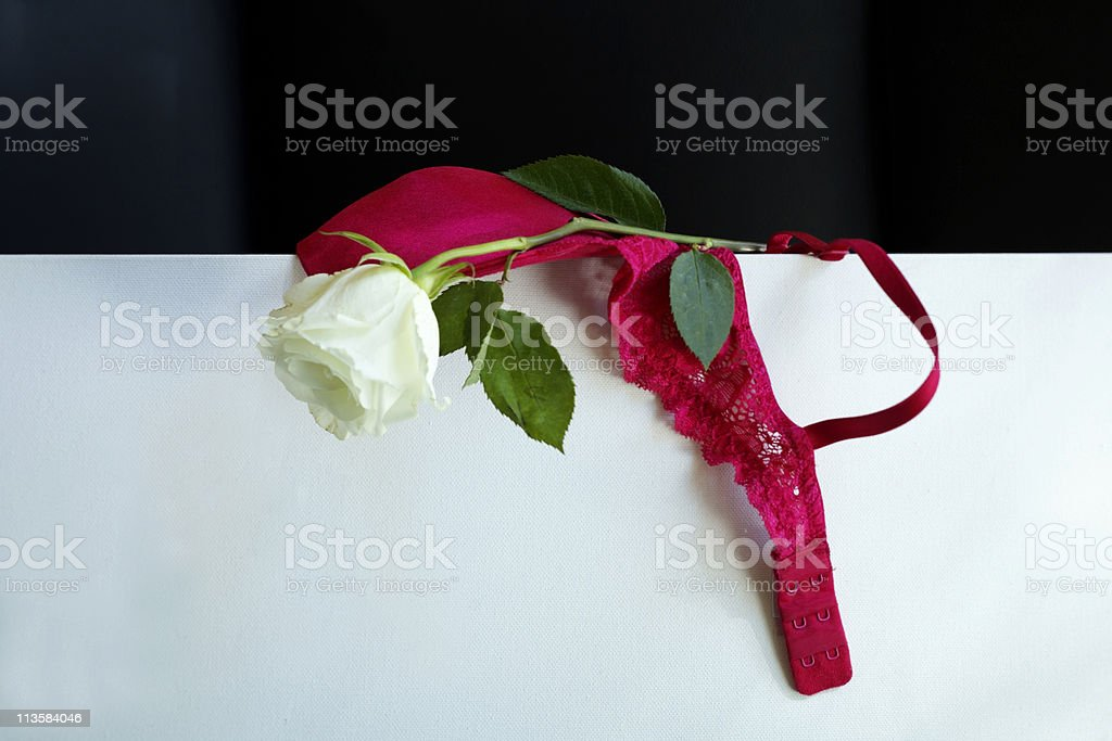 Rose and bra royalty-free stock photo