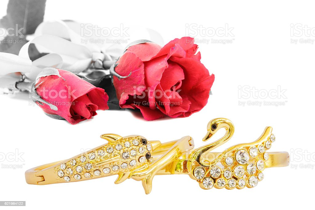 Rose and Bracelet stock photo