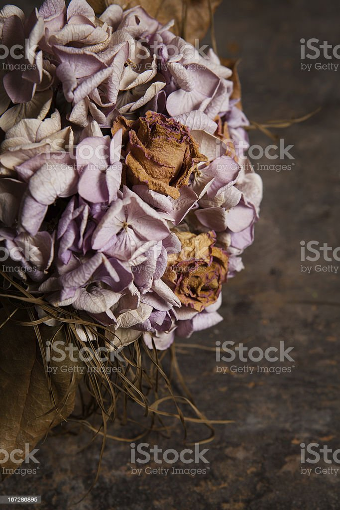 Rose and hydrangea bouquet stock photo