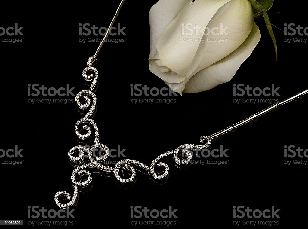 rose and jewellery royalty-free stock photo