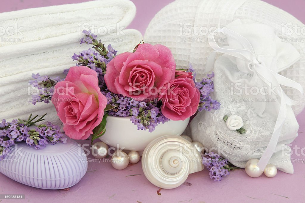 Rose and Lavender Spa royalty-free stock photo