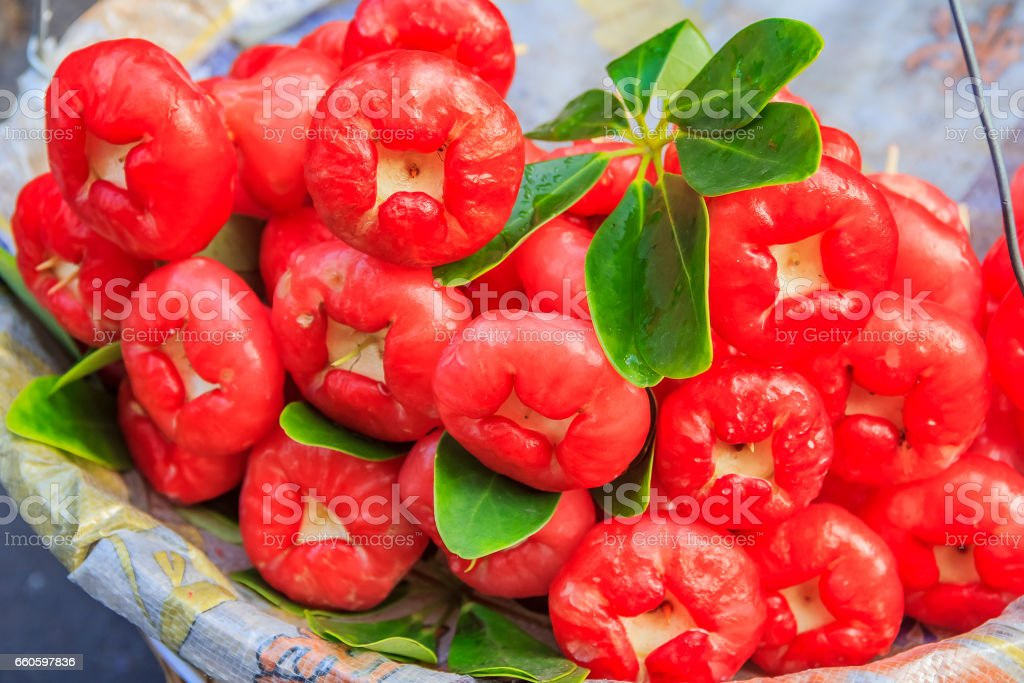 Rose apple at the market stock photo