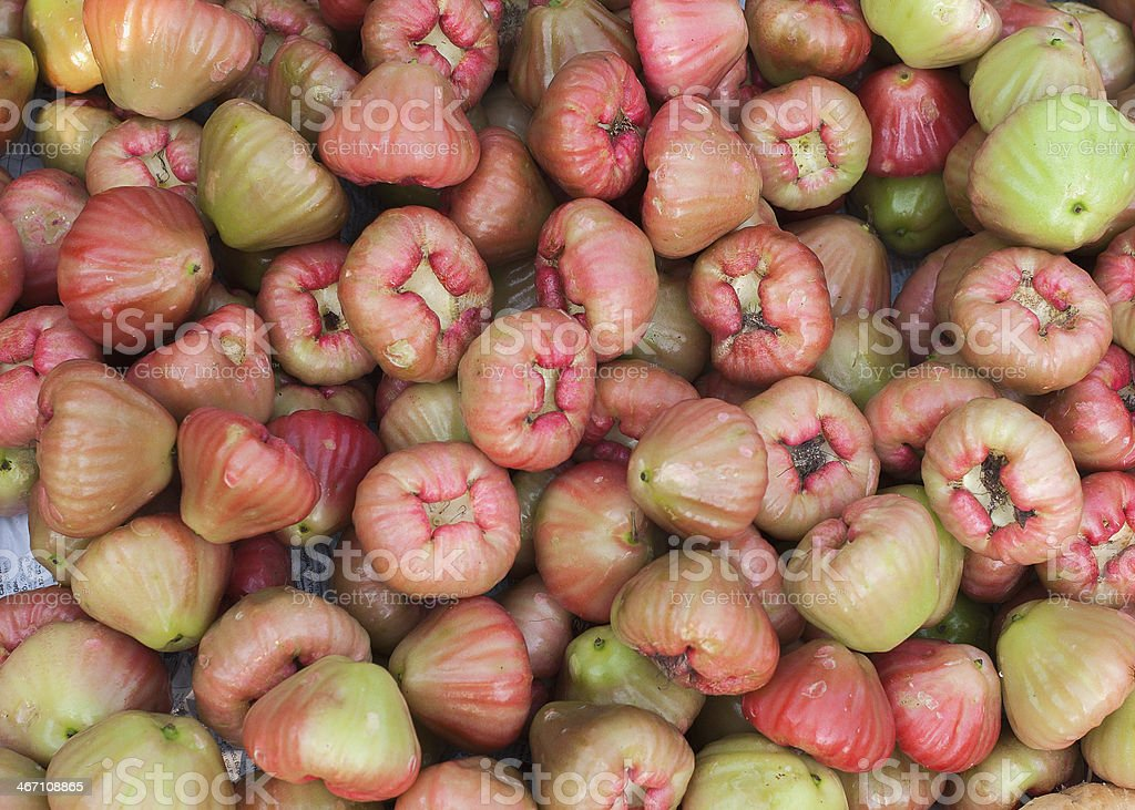 Rose apples on the market in Phan Thiet, Vietnam. royalty-free stock photo